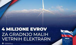 Javni razpis za sofinanciranje operacij gradnje novih manjših proizvodnih naprav za izrabo vetrne energije