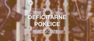 Javni razpis za dodelitev štipendij za deficitarne poklice za šolsko leto 2021/2022